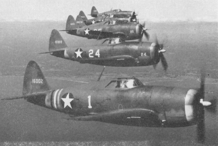 Rated the fastest and most powerful high altitude fighter in the sky at the time was the Republic P-47 Thunderbolt. It was heavily armored , carried 6 or more .5 calibre machine guns , was powered with a 2000 horsepower radial type engine and equipped with a turbo-super charger.