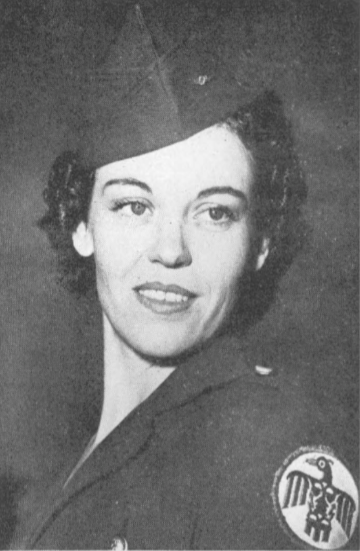 Believed to be the first feminine employee to join the armed forces was Glenyce Poole, chief telephone operator at Thunderbird , who left later on for the WAAF training center in Des Moines, Iowa